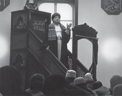 Sheikh Muzaffer at the Masjid al-Farah in its original location at 155 Mercer Street